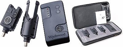 Wychwood AVX-S Fishing Wireless Bite Alarm Receiver Presentation Set All Colours