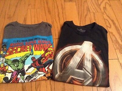 Marvel Comic Lot of 2 T shirts Size S