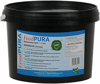 Food PURA® 1.5KG Human CODEX FOOD Grade Diatomaceous Earth DE Pure Fresh Water