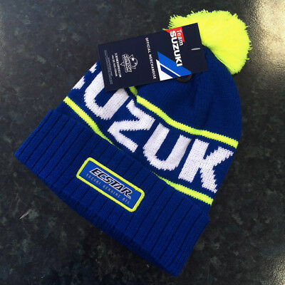 New - Suzuki Genuine Moto GP Ecstar Team Beanie Pom Bobble Hat
