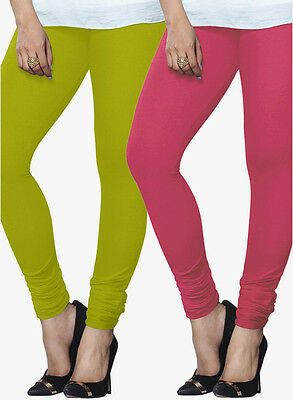 Wholesale Lot of 2 Pcs Women Churidaar Legging Cotton 4 Way Stretch Yoga Pants