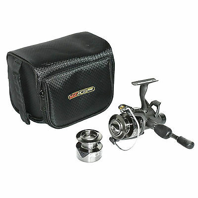 Map ACS 4000 Fishing Coarse Spin Spinning Reel with Auto Clip & Carry Case