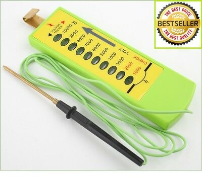 Electric Fence Tester*Voltage*10 Levels:1000v-10000v -- TOP 5* SELLER* 100s Sold
