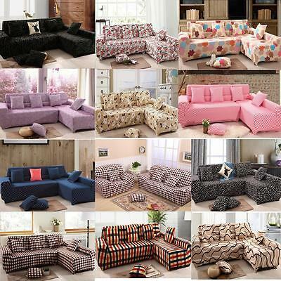 Universal Stretch Sofa Slipcover Skid Washable 1 2 3 4 Seater Pillow Covers ^