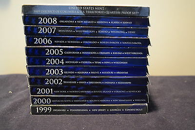 1999 thru 2008 & 2009 State and Territorial Proof Quarter 56 coin Set, Very nice