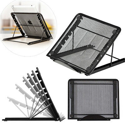 Metal Mesh Ventilate Adjustable Laptop Stand Holder Notebook/iPad/Tablet Macbook