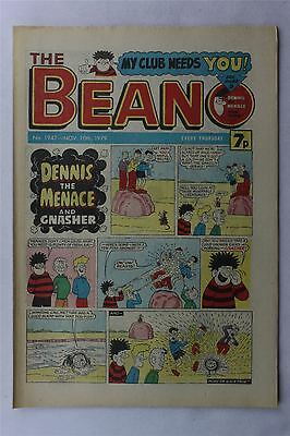 The Beano #1947 November 10th 1979 Vintage Comic Dennis The Menace