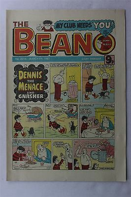 The Beano #2016 March 7th 1981 Vintage Comic Dennis The Menace