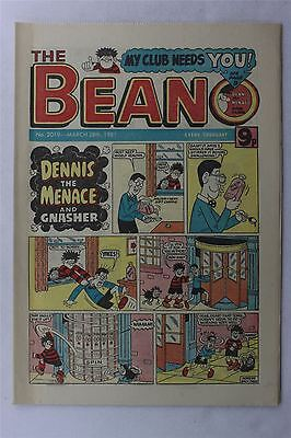 The Beano #2019 March 28th 1981 Vintage Comic Dennis The Menace