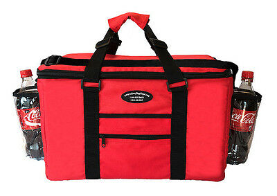 Insulated Food Delivery Bag / Pan Carrier Pasta /Sandwich & Drink Holder (Red)