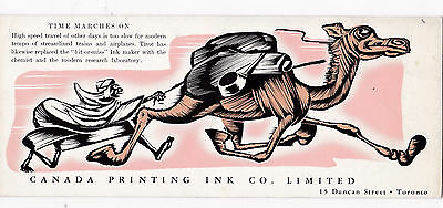 Ink Blotter ; Toronto, Canada , 1940s ; Canada Printing Ink Co., Camel