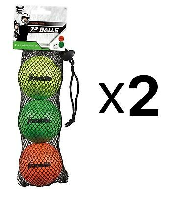 Franklin Youth White Green & Red Mini Practice Lacrosse Balls 3-Pack (2-Pack)