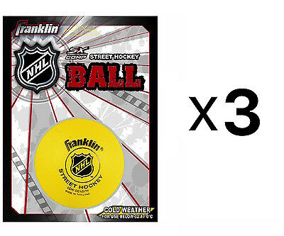 Franklin Sports NHL Street Roller Hockey Ball Puck Low Density Ball (3-Pack)