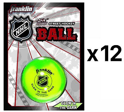 Franklin Sports Glow In The Dark Street Hockey Ball Puck High Density (12-Pack)
