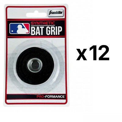 Franklin Sports MLB Grip Tape Synthetic Baseball Softball Bat Handle (12-Pack)