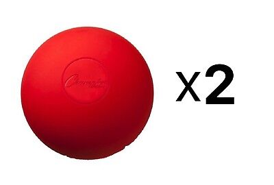 Champion NCAA/NFHS Official Size Molded Rubber Lacrosse Ball, Red (2-Pack)