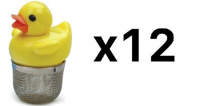 """RSVP Tea Infuser Just Ducky 2"""" Floating Duck Stainless Steel Mesh Drip (12-Pack)"""