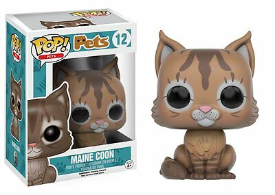 Funko Pop Pets: Maine Coon Vinyl Stylized Action Figure 11072 Collectible Toy 12