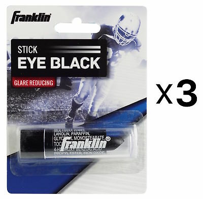 Franklin Sports MLB Baseball Eye Black Bees Wax Grease Stick, Durable (3-Pack)