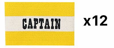 Champion Sports Youth Soccer Captains ARM Band Yellow New (12-Pack)
