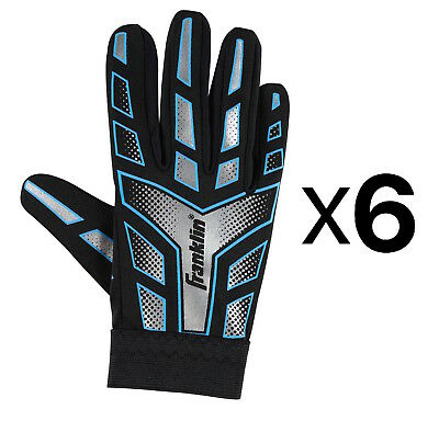 Franklin Sports Youth-Junior Receiver-Receiving Football Gloves-Large (6-Pack)
