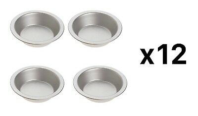 Norpro Nonstick Tin Pie Pan-Set of 4 For Pie, Tart, Quiche, Shortcake (12-Pack)