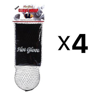 Unique Sports Glove Wrap With Shaping Ball Baseball-Softball Deluxe (4-Pack)