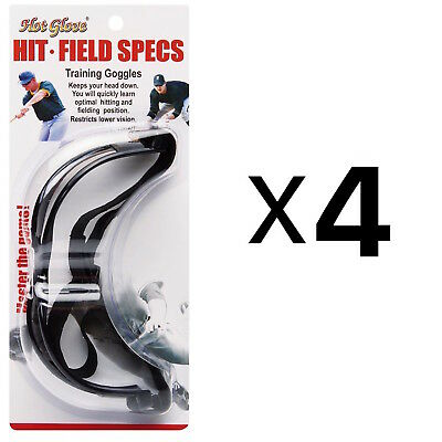 Unique Hit N Field Training Goggles Baseball Softball Specs HFS-1 (4-Pack)