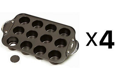 "Norpro Nonstick 12 Mini Cheesecake/Muffin Quiche Cupcake Pan 2"" Dia (4-Pack)"
