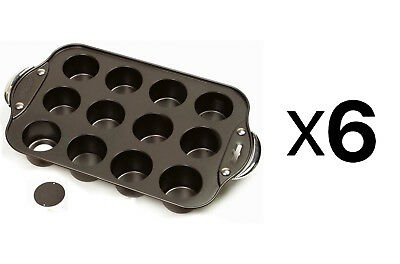 "Norpro Nonstick 12 Mini Cheesecake/Muffin Quiche Cupcake Pan 2"" Dia (6-Pack)"
