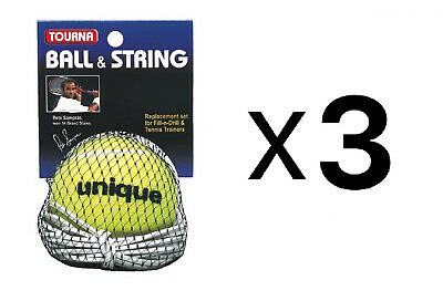Tourna Ball-String Replacement-Fill N Drill Trainer-Sampras Trainer (3-Pack)
