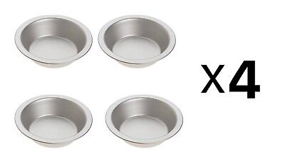 Norpro Nonstick Tin Pie Pan-Set of 4 For Pie, Tart, Quiche, Shortcake (4-Pack)