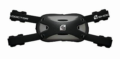 Shock Doctor Ultra Carbon Chin Strap Football/Lacrosse, Adult Large/XL Black New