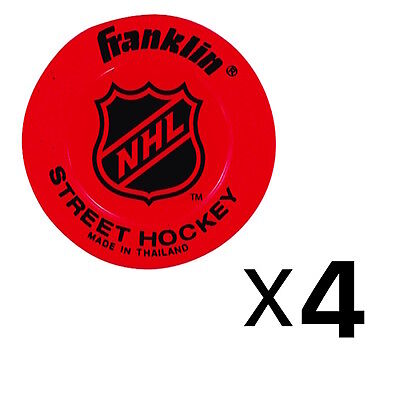 Franklin Sports NHL Low Density Street Hockey Puck - Colors May Vary (4-Pack)
