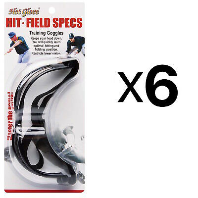 Unique Hit N Field Training Goggles Baseball Softball Specs HFS-1 (6-Pack)