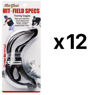Unique Hit N Field Training Goggles Baseball Softball Specs HFS-1 (12-Pack)