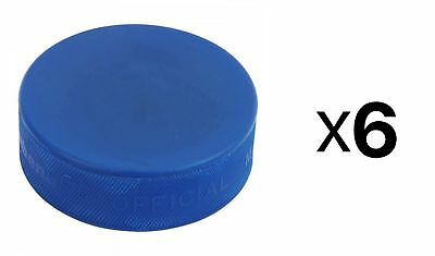 A&R Ice Hockey Puck Blue Mite Hard Rubber And Adhere To The Strictest (6-Pack)