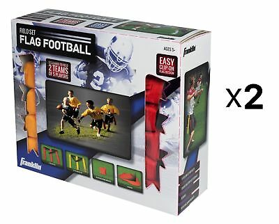 Franklin Sports Flag Football 10 Ten Player Game Set Durable Heavy Duty (2-Pack)