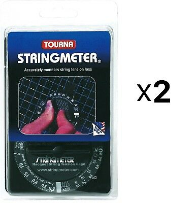 Tourna Racquet String Tension Meter Tennis Racquetball Measuring Device (2-Pack)
