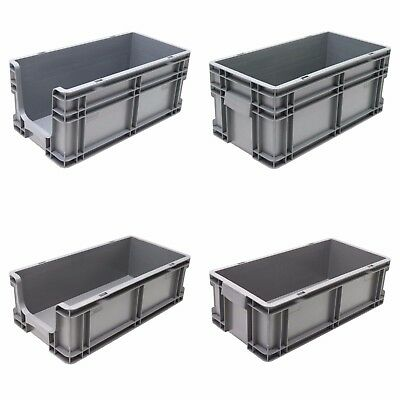 NEW Heavy Duty 50cm Industrial Plastic Euro Storage Container Crate Box Boxes