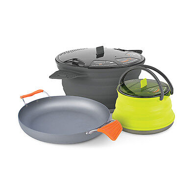 Sea To Summit X-Set 32 Collapsible Cooking Pot Frying Pan Kettle Compact