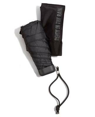 "$97 Kenneth Cole Reaction Black 38"" Arc Canopy Compact Folding Rain Umbrella"