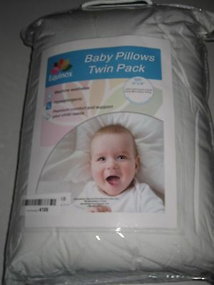 "Equinox Baby Toddler Pillows - 100% Cotton Cover - 13"" x 18"" - 2 COUNT"