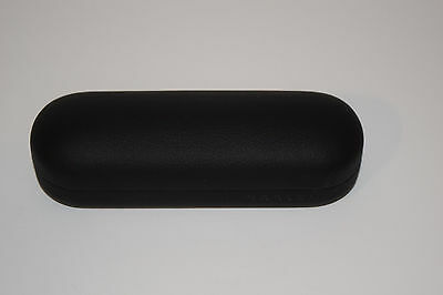 Oakley Black Leather Sunglasses Eyeglasses Clam Shell Case Vault Small