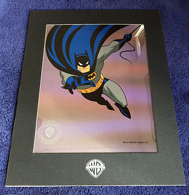 Rare Animated BATMAN WB 1992 Promo-Only Serigraph Sericel with Brochure - Mint!