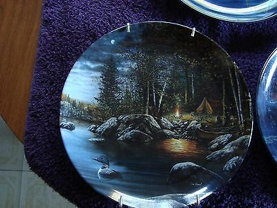 "Bradford Exchange Loon Series Jim Hansel ""Tranquil Reflection"""