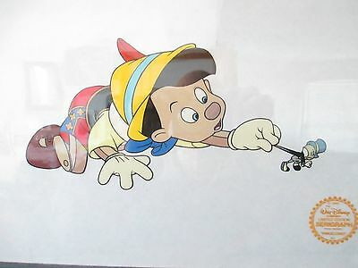 Pinocchio Serigraph Created From Original Art...framed Under Glass With C.o.a.