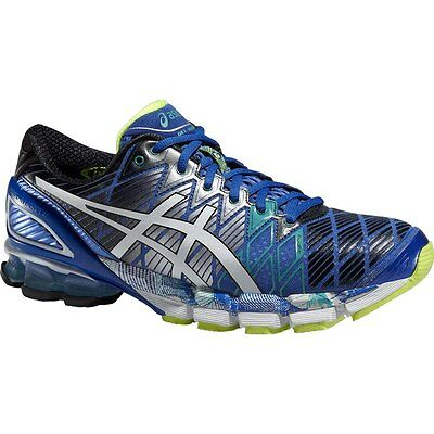 Asics Gel KINSEI 5 Mens Running Shoes Size 10 NEW NIB BLUE WHITE EMERALD GREEN