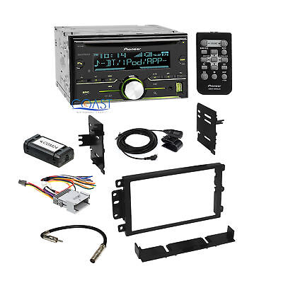 Pioneer Radio Stereo 2 Din Dash Kit Interface Harness for 1992-up GM Chevrolet