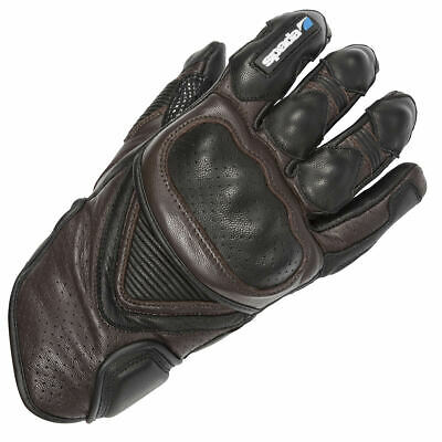 Spada Summer Sled Dog Motorcycle Motorbike Leather Waterproof Gloves - Brown